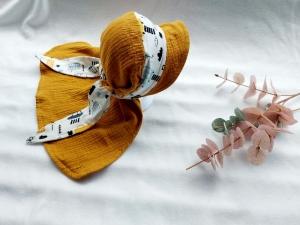 Bandana-Kappe, Hut, Sonnenhut, Sommermütze mit Schirm, KU: 40-56 cm  - Handarbeit kaufen