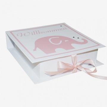 Geldgeschenk/Geschenkverpackung zur Geburt oder Taufe, handgefertigt mit Wunschname im Deckel