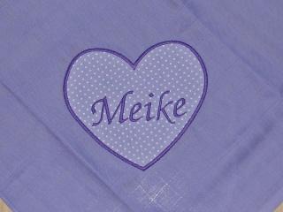 Mullwindel ♥ Spucktuch ♥ Schmusetuch mit eigenem Namen, Farbe: lila