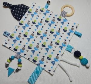 Super schönes Knistertuch für kleine Entdecker - geometrische Muster