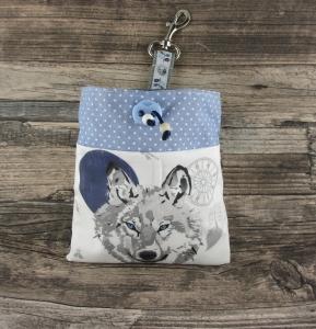 Leckerli-Beutel Free Spirit/blau innen wasserabweisend abwischbar Leckerlitasche Beutel für Hundeleckerlies Kotbeuteltasche - Handarbeit kaufen