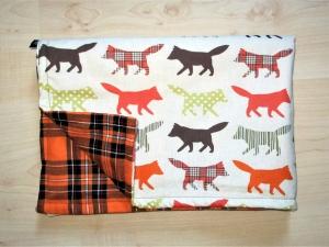Hundedecke The Fox/orange Kuscheldecke für Hunde Tierdecke Schlafplatz Hund Sitzschoner Auto Couch   - Handarbeit kaufen