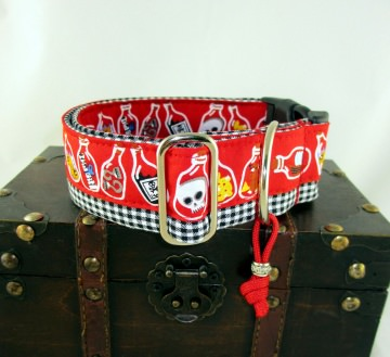 Hundehalsband Flaschenpost Halsband für Hunde verstellbar mit Klickverschluss Kunststoffverschluss und Schmuckanhänger - Handarbeit kaufen