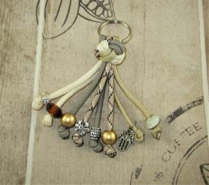 Schlüsselanhänger aus Paracord mit Zierknoten Anhänger für Schlüsse mit Schlüsselring Taschenbaumler Anhänger für Tasche Taschenanhänger für Männer für Frauen für Auto - Handarbeit kaufen