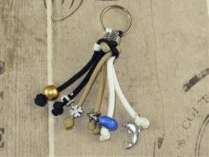 Schlüsselanhänger aus Paracord im maritimen Look mit Zierknoten Anänger für Schlüssel mit Schlüsselring Taschenbaumler Taschenanhänger Anhänger für Tasche für Männer und Frauen für - Handarbeit kaufen