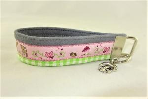 Schlüsselanhänger Schlüsselband Lilly Anhänger Band Nylonband für Schlüssel mit Schlüsselring für Mädchen für Frauen für Autoschlüssel - Handarbeit kaufen