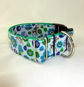 Hundehalsband Wald Halsband mit abwaschbar wasserfest Klickverschluss Metallverschluss oder Kunststoffverschluss wahlweise Zugstopp