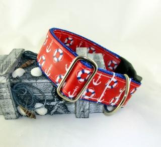 Hundehalsband Seebär abwischbar wasserfest schmutzabweisend mit Klickverschluss