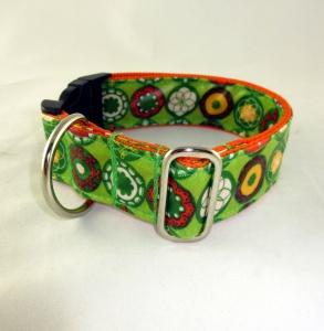 Hundehalsband Retro abwischbar wasserfest schmutzabweisend durch Acryl Beschichtung mit Klickverschluss Kunststoffverschluss - Handarbeit kaufen