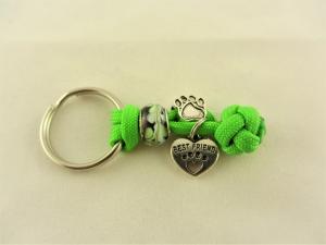 Halsband Anhänger aus Flechtschnur fürs Anbringen der Hundemarke mit Schlüsselring