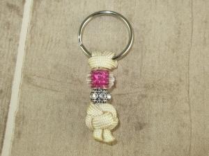 Halsband Anhänger aus Flechtschnur fürs Anbringen der Hundemarke mit Schlüsselring    - Handarbeit kaufen