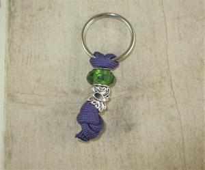 Halsband Anhänger mit Schlüsselring aus Paracord fürs Anbringen der Hundemarke ans Hundehalsband Halsband Hund Schmuckanhänger - Handarbeit kaufen