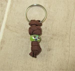 Halsband Anhänger aus Paracord fürs Anbringen der Hundemarke ans Hundehalsband Halsband Hund mit Schlüsselring    - Handarbeit kaufen