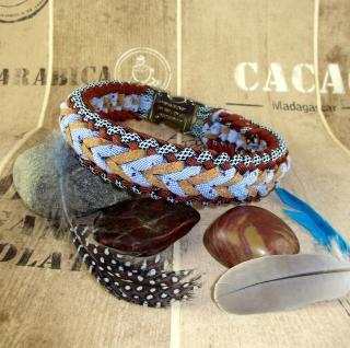 Hundehalsband Nanuk Halsband geflochten Flechthalsband mit Klickverschluss