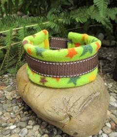 Hundehalsband Stars Halsband wärmend und weich gepolstert mit Zugstopp