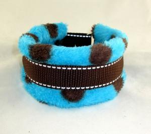 Hundehalsband Auf den Punkt Halsband wärmend reflektierend gepolstert mit weicher Fleece Polsterung wahlweise Zugstopp Verschluss oder Klickverschluss Kunststoff oder Metall  - Handarbeit kaufen