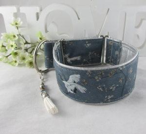 Windhundhalsband Crane Zugstopp Halsband Hundehalsband Windhund Podenco Galgo Whippet abwischbar breit