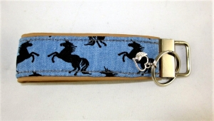 Schlüsselanhänger Einhörner Anhänger für Schlüssel Nylonband Schlüsselband mit Schlüsselring unterlegt mit Kunstleder für Männer oder Frauen  - Handarbeit kaufen
