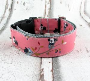 Hundehalsband Eukalyptus-Bande Halsband Hunde abwischbar durch Beschichtung mit Klickverschluss  Kunststoffverschluss oder Metallverschluss wahlweise Zugstopp - Handarbeit kaufen