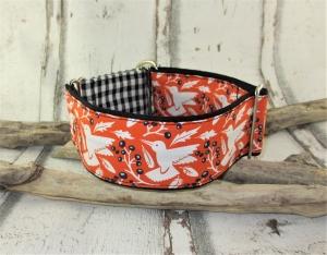 Hundehalsband Fly away Martingale Halsband verstellbar breit Zugstopphalsband wahlweise Klickverschlusshalsband Metallverschluss oder Kunststoffverschluss  - Handarbeit kaufen