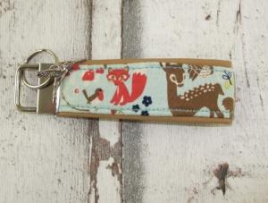 Schlüsselanhänger Waldfreunde Anhänger für Schlüssel Nylonband Schlüsselband mit Schlüsselring unterlegt mit Kunstleder für Männer oder Frauen  (Kopie id: 100207086)