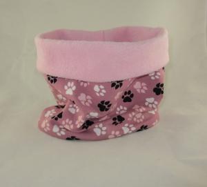 Hundeloop Wald und Feld rosa Hundeschal Bandana Loop Schal für Hunde weich wärmend Fleece gepolstert
