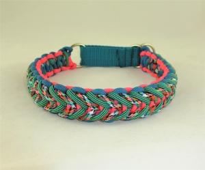 Halsband Action geflochten Flechthalsband Hundehalsband aus Paracord mit Zugstopp Verschluss - Handarbeit kaufen