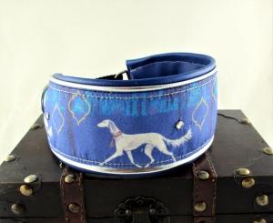 Windhundhalsband Arabesque Windhund Collar Hundehalsband Halsband breit Zugstopp Verschluss oder Klickverschluss Kunststoff oder Metall gepolstert Kunstlederpolsterung - Handarbeit kaufen