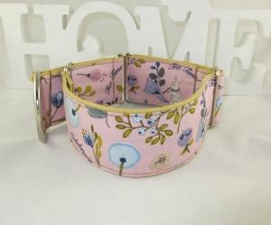 Hundehalsband Springtime Martingale Halsband verstellbar breit Zugstopphalsband oder Klickverschlusshalsband Metallverschluss oder Kunststoffverschluss