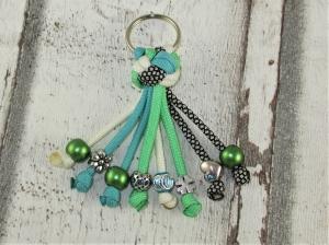 Schlüsselanhänger aus Paracord Anhänger für Schlüssel mit Schlüsselring Taschenbaumler Taschenanhänger für Frauen für Mädchen Anhänger für Autoschlüssel   - Handarbeit kaufen