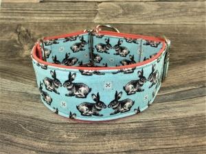 Hundehalsband Hasienda Martingale Halsband verstellbar breit Zugstopphalsband oder Klickverschlusshalsband Metallverschluss oder Kunststoffverschluss   - Handarbeit kaufen