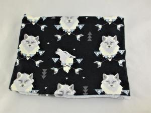 Hundeloop Wölfe Hundeschal Bandana Loop Schal für Hunde weich wärmend Fleece gepolstert   - Handarbeit kaufen