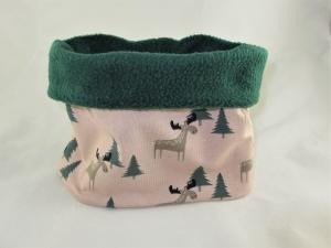 Hundeloop Elchwald Hundeschal Bandana Loop Schal für Hunde weich wärmend Fleece gepolstert    - Handarbeit kaufen