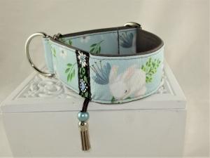 Hundehalsband Häschenklein Halsband Martingale verstellbar mit Zugstopp Zugstopphalsband wahlweise Klickverschluss Kunststoff oder Metall  - Handarbeit kaufen