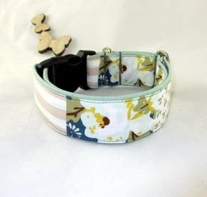 Hundehalsband Vintage Halsband für Hunde verstellbar mit Klickverschluss Kunststoff Breite 4 cm    - Handarbeit kaufen