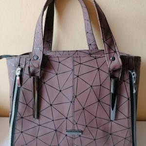 Handgemachte Handtasche aus Kunstleder, Shopper, Handbag