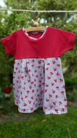 Fröhliches Sommer -Kleidchen mit Kirschen, Größe 74   - Handarbeit kaufen