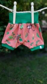 Fröhliche Sommer- Pumphose mit Äffchen, kurz, Größe 56    - Handarbeit kaufen