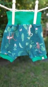Fröhliche Sommer- Pumphose mit Äffchen, kurz, Größe 68 - Handarbeit kaufen