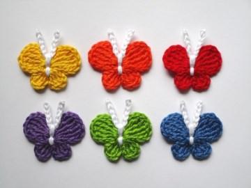 Häkelapplikation, Schmetterling