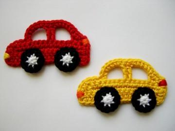 Häkelapplikation, Autos