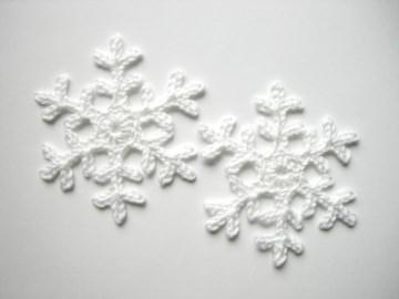 große Schneeflocken gehäkelt, Häkelapplikation