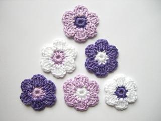 Häkelapplikation, Blumen