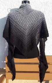 Häkeltuch, 190 x 60 cm, männergeeignet, Dreiecktuch, symmetrisch, reine Baumwolle, von Schwarzwaldmaschen - Handarbeit kaufen