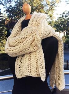 kuscheliger Schal * Strickschal * XXL-Schal * Liebelingsschal aus Wolle und Seide - Handarbeit kaufen