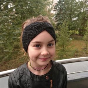 Stirnband * Wolle * Leinen * GOTS *  Kinder * Erwachsene * schwarz melange - Handarbeit kaufen