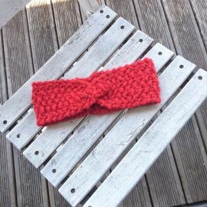 handgestricktes Stirnband in rot Größe S für Kinder und Erwachsene - Handarbeit kaufen