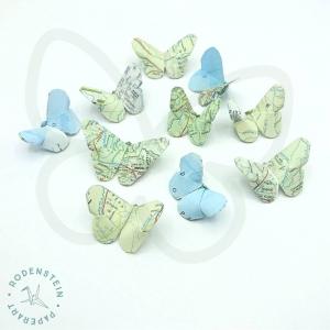 Schmetterling * Butterfly * Landkarte * Origami * upcycling - Handarbeit kaufen
