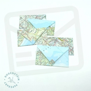 Umschlag * für Geldgeschenk * Landkarte * Origami * upcycling  - Handarbeit kaufen