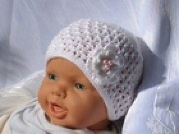 Mütze zur Taufe/Hochzeit für Babys und Kleinkinder